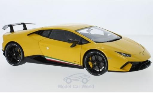 Lamborghini Huracan 1/18 AUTOart Performante metallic yellow 2017 diecast