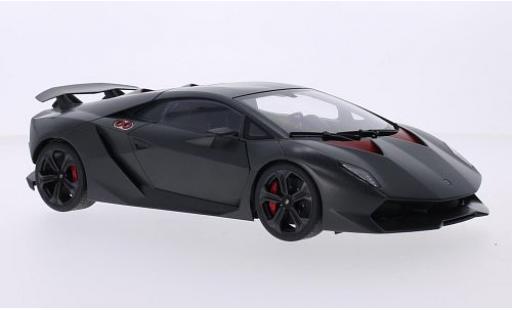 Lamborghini Sesto Elemento 1/18 AUTOart matt-grise/carbon 2010 miniature