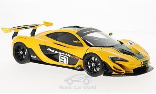 McLaren P1 1/18 AUTOart GTR yellow/green 2015 Motorshow Genf diecast