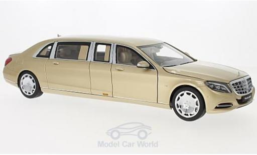 Mercedes CLA 1/18 AUTOart Maybach Classe S (S600) Pullman gold 2016 diecast