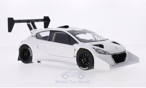 Peugeot 208 T16 1/18 AUTOart T16 blanche Pikes Peak 2013 Plain Body Version miniature