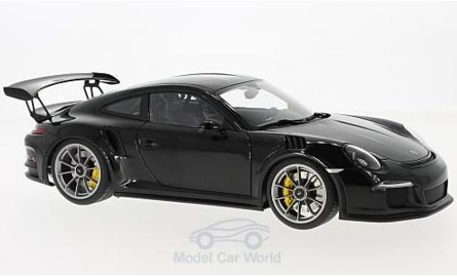 Porsche 991 GT3 RS 1/18 AUTOart 911  black 2016 diecast model cars