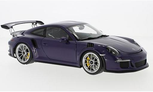 Porsche 991 GT3 RS 1/18 AUTOart 911  purple 2016 diecast model cars
