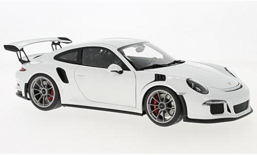 Porsche 991 GT3 RS 1/18 AUTOart 911  blanche 2016 miniature