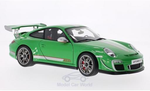Porsche 997 GT3 RS 1/18 AUTOart 911  4.0 verte/grise 2011 miniature
