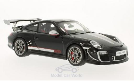 Porsche 997 GT3 RS 1/18 AUTOart 911  4.0 black 2011 diecast model cars