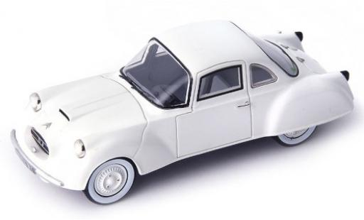 Citroen 2CV 1/43 AutoCult DF Coupe white 1956 diecast model cars