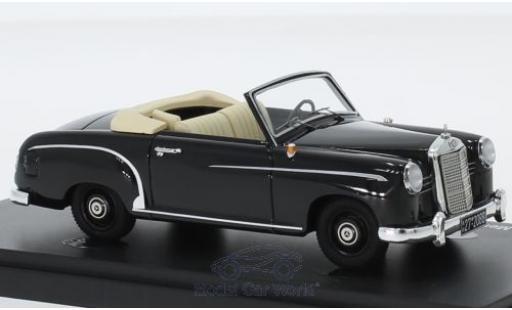 Mercedes 180 1/43 AutoCult Cabriolet A Prougeotyp noire 1953 miniature