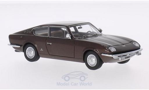 Fiat 125 1/43 AutoCult Samantha Vignale metallise marron 1967 miniature