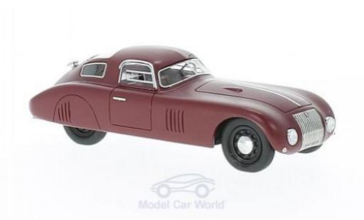 Fiat 1500 1/43 AutoCult Barchetta Kompressor rouge 1943 miniature