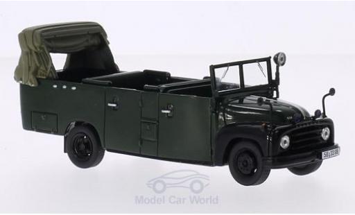 Hanomag L28 1/43 AutoCult Gruppenkraftwagen dunkelgrün 1955 miniature