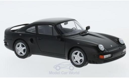 Porsche 956 1/43 AutoCult V8 matt-black 1988 diecast