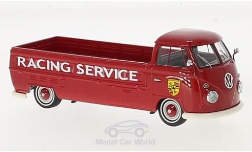 Volkswagen T1 A 1/43 AutoCult Langpritsche rouge Porsche Racing Service 1967 miniature