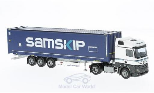 Mercedes Actros 1/87 AWM 2 Big. Aerop. Samskip 45 OS Cont.-SZ diecast model cars