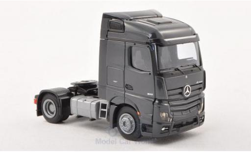Mercedes Actros 1/87 AWM 2 Streamspace/Aerop. dkl.-grise 2-achsig grise miniature