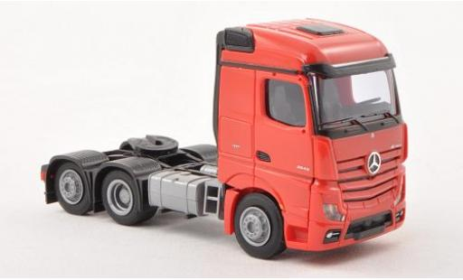 Mercedes Actros 1/87 AWM 2 Streamspace red Solo-Zugmaschine 3-achsig red diecast model cars