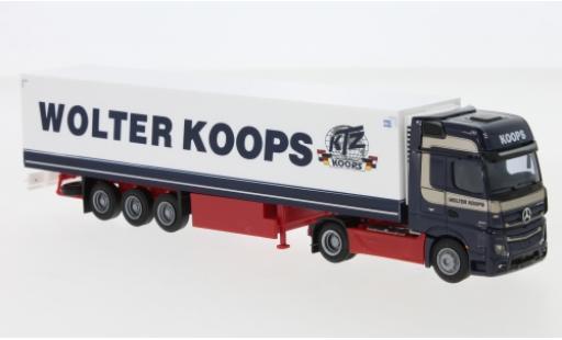 Mercedes Actros 1/87 AWM 5 GigaSpace/Aerop. Wolter Koops (NL) Remorque de boîte de réfrigération miniature