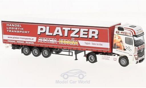 Mercedes Actros 1/87 AWM 2 Big. Aerop. Platzer (A) G-KSZ miniature