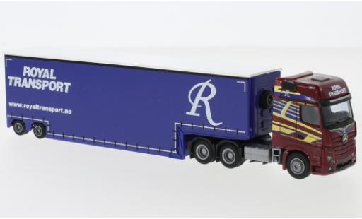 Mercedes Actros 1/87 AWM 2 Giga. / Aerop. Royal Transport Tiefbett-SZ miniature