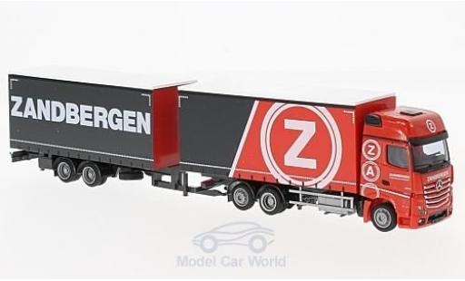 Mercedes Actros 1/87 AWM 2 Giga Zandbergen Jumbo-G-KTaHZ miniature