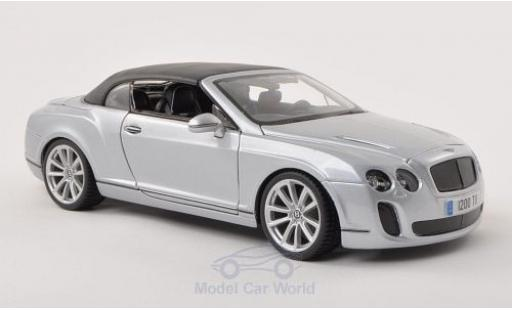 Bentley Continental T 1/18 Bburago Supersports Convertible grise Verdeck geschlossen miniature
