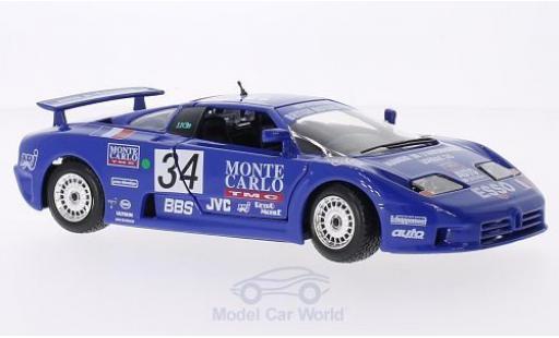 Bugatti EB110 1/24 Bburago EB 110 Super Sport No.34 24h Le Mans 1990 A.Cudini/E.Helary/J.C.Bouillon miniature