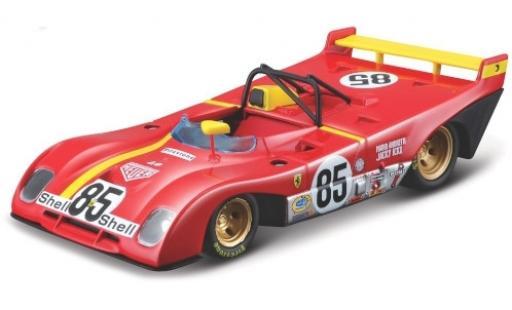 Ferrari 312 1/43 Bburago P RHD No.85 Scuderia 6h Watkins Glen 1972 M. Andretti/J.Ickx miniature