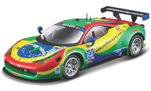 Ferrari 458 1/43 Bburago Italia GT3 No.64 Via Italia Racing 24h Daytona 2015 A.Bertolini/F.Longo/D.Serra/M.Gomes