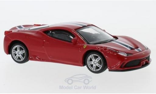 Ferrari 458 1/43 Bburago Speciale rouge/blanche pull-back miniature