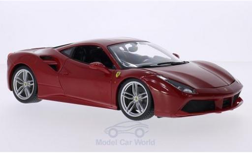 Ferrari 488 1/18 Bburago GTB rosso 2015 miniatura