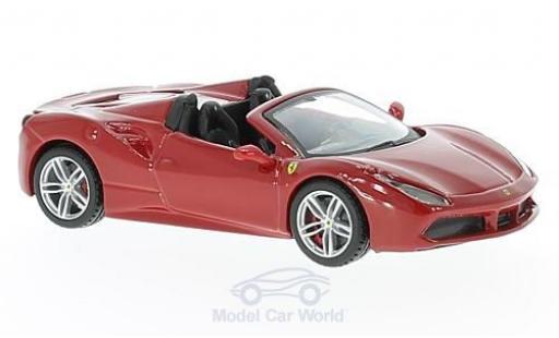 Ferrari 488 1/43 Bburago Spider red 2016 diecast