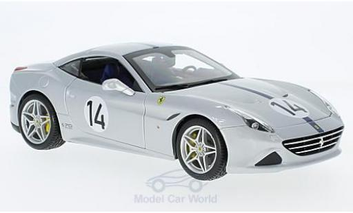 Ferrari California 1/18 Bburago T grise/bleue The Hot Rod 70 Jahre miniature