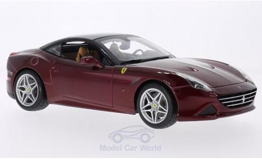 Ferrari California 1/18 Bburago T metallise rouge miniature