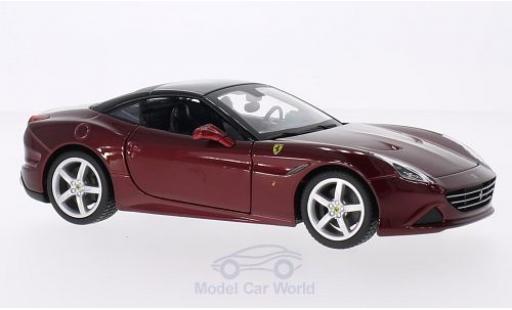 Ferrari California 1/24 Bburago T metallise rosso/nero 2014 modellino in miniatura