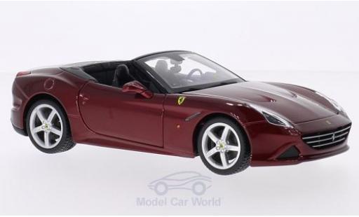 Ferrari California 1/24 Bburago T metallise rosso Verdeck geöffnet modellino in miniatura