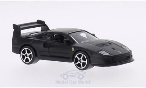 Ferrari F40 1/64 Bburago Competizione matt-black diecast