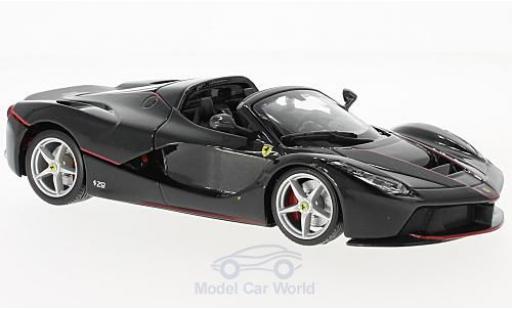 Ferrari LaFerrari 1/24 Bburago La Aperta métallisé noire miniature