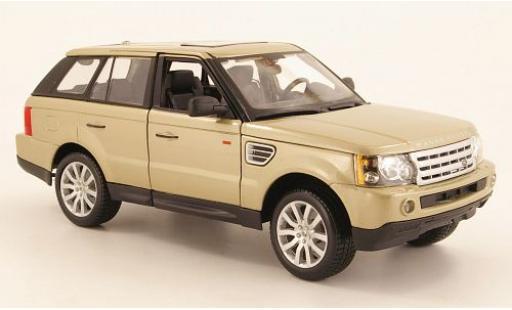 Land Rover Range Rover 1/18 Bburago Sport gold sans Vitrine miniature