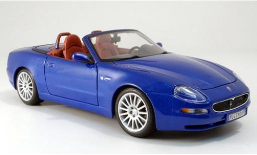 Maserati GT Spyder 1/18 Bburago bleue 2003 sans Vitrine miniature