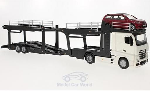Mercedes Actros 1/43 Bburago 2545 Autotransporter mit Ford Focus Turnier miniature