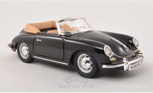 Porsche 356 A 1/24 Bburago B Cabriolet noire 1961 miniature