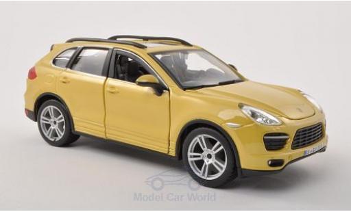 Porsche Cayenne Turbo 1/24 Bburago (92A) jaune miniature