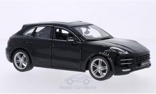 Porsche Macan Turbo 1/24 Bburago Turbo noire miniature