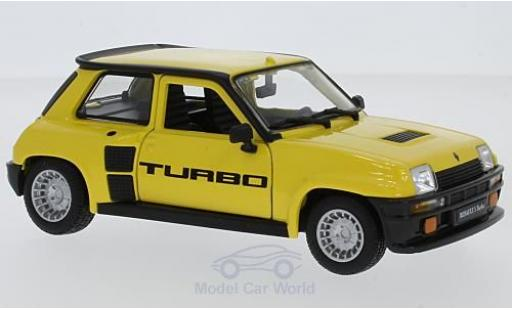 Renault 5 Turbo 1/24 Bburago yellow 1982 diecast model cars