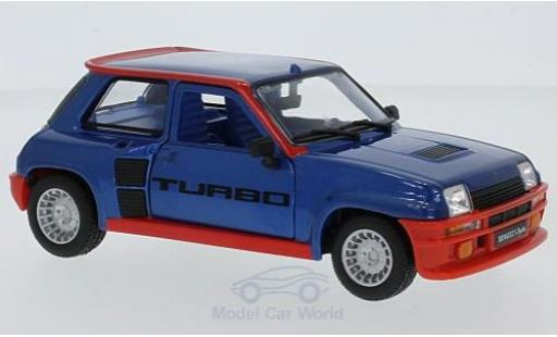Renault 5 Turbo 1/24 Bburago Turbo metallic-blau 1982 modellautos
