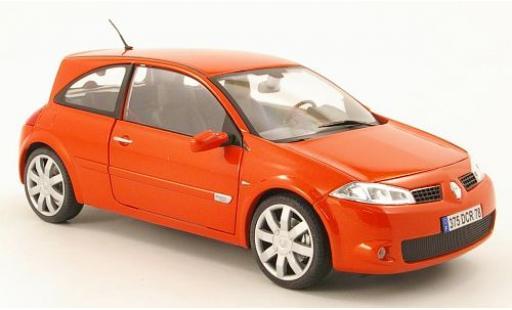 Renault Megane 1/18 Bburago RS metallise rouge sans Vitrine miniature