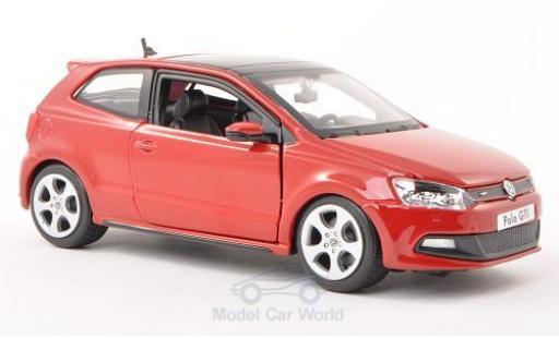 Volkswagen Polo 1/24 Bburago V GTI M5 rouge ohne Vitrine miniature