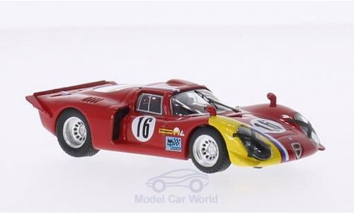 Alfa Romeo 33.2 1968 1/43 Best Coupe No.16 1000km Spa G.Gosselin/S.Trosch miniature