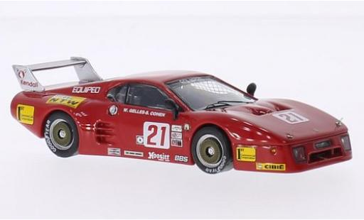 Ferrari 512 1/43 Best BB LM No.21 Lime Rock Park 1984 S.Cohen/W.Gelles miniature