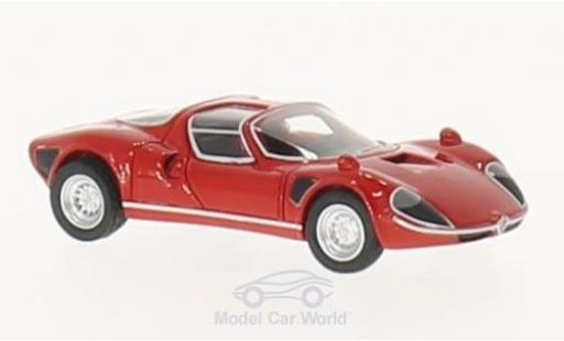 Alfa Romeo T33 1/87 BoS Models Tipo 33 Stradale rouge 1967 miniature